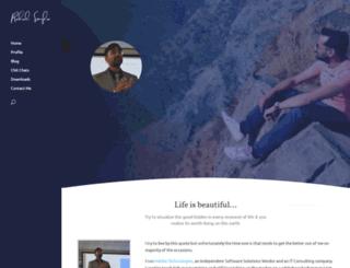 rahulsingla.com screenshot