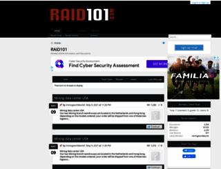 raid101.com screenshot