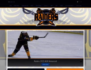raidershockey.ca screenshot