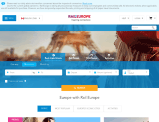 raileurope.ca screenshot