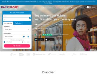raileurope.co.za screenshot