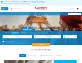 raileurope.com.au screenshot
