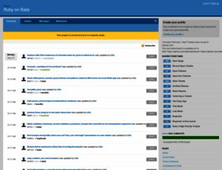 rails.lighthouseapp.com screenshot