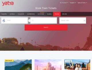 railtourpackages.yatra.com screenshot