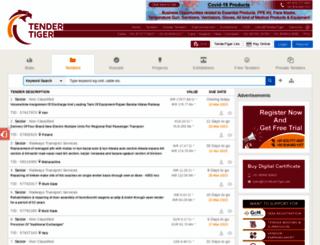 railway.tendertiger.com screenshot