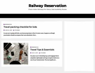 railwayreservation.net screenshot
