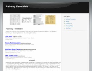 railwaytimetable.net screenshot