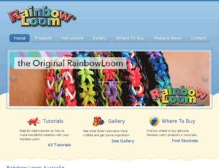 rainbowloom.net.au screenshot