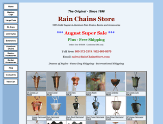 rainchainsstore.com screenshot