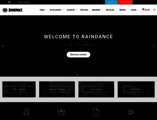 raindance.co.uk screenshot