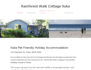 rainforestwalkcottage.com.au screenshot