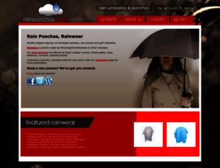 rainponchosonline.com screenshot