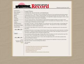 rainyriverrecord.com screenshot