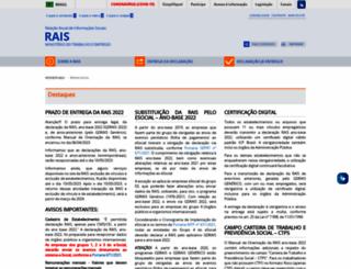 rais.gov.br screenshot