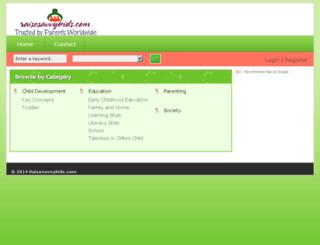 raisesavvykids.com screenshot