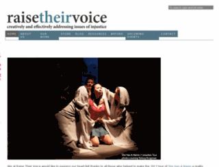 raisetheirvoice.com screenshot
