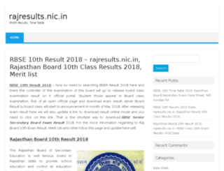 raj.10thresultsnic.in screenshot