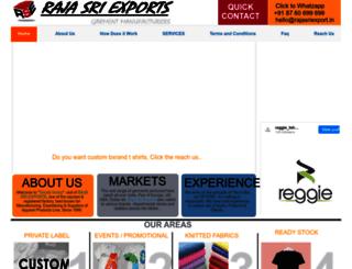 rajasriexport.in screenshot