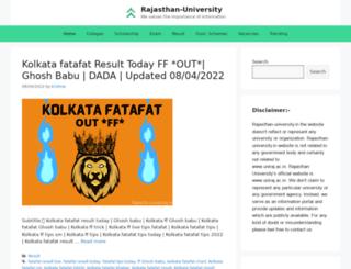 rajasthan-university.in screenshot