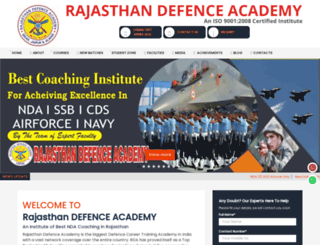 rajasthandefenceacademy.com screenshot
