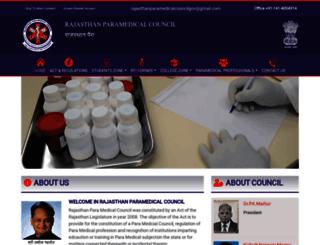 rajasthanparamedicalcouncil.org screenshot