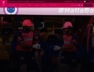 rajasthanroyals.com screenshot