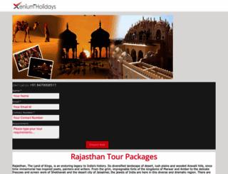 rajasthantour.xeniumholidays.com screenshot