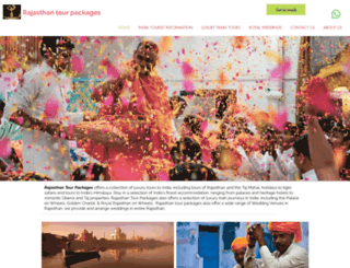 rajasthantourpackages.com screenshot