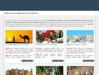 rajasthantoursonline.com screenshot