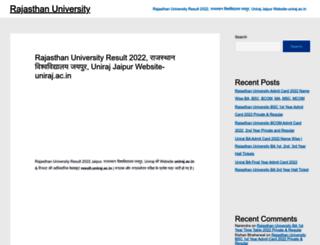 rajasthanuniversity.in screenshot