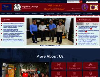 rajdhanicollege.ac.in screenshot