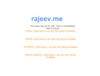 rajeev.me screenshot