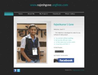 rajeshgone.orgfree.com screenshot