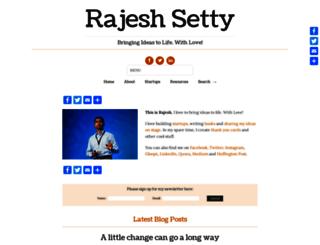 rajeshsetty.com screenshot