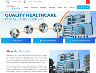 rajhospitals.com screenshot