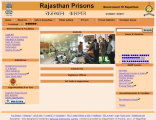 rajprisons.nic.in screenshot