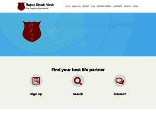 rajputshubhvivah.com screenshot