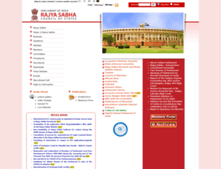 rajyasabha.nic.in screenshot