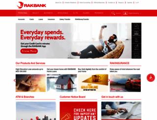 rakbank.ae screenshot