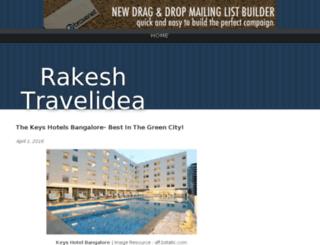 rakeshtravelidea.bravesites.com screenshot