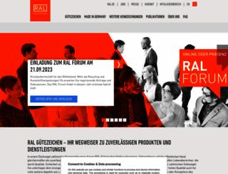 ral-guetezeichen.de screenshot