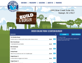 raleigh.elevationburger.com screenshot