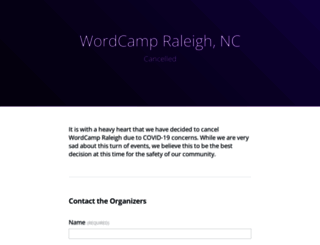 raleigh.wordcamp.org screenshot