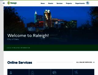 raleighnc.gov screenshot