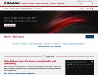 rallydev.com screenshot