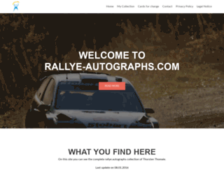 rallye-autographs.com screenshot