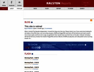 ralstonreports.com screenshot