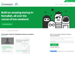 ramallah.startupweekend.org screenshot