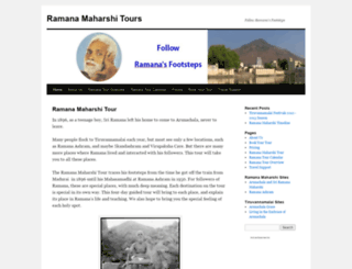 ramanamaharshitours.wordpress.com screenshot