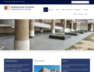 ramanujancollege.ac.in screenshot